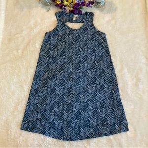 Aventura Blue Carrick Print Sleeveless Dress Sz S
